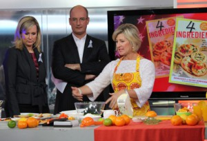 Kim with Kochie and Mel on Sunrise.